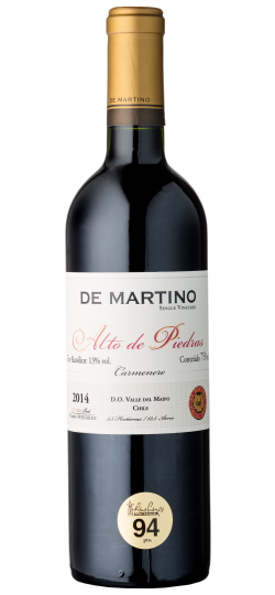 Vinho De Martino Carmenere Gran Reserva Single Vineyard Alto de Piedras 750ml