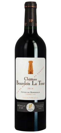 Vinho Chateau Bourdon La Tour AOC Cotes Bordeaus 750 ml